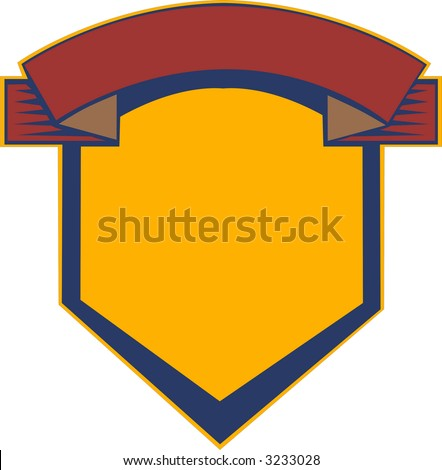 Clean heraldry and shield for college, university or class logo - stock photo