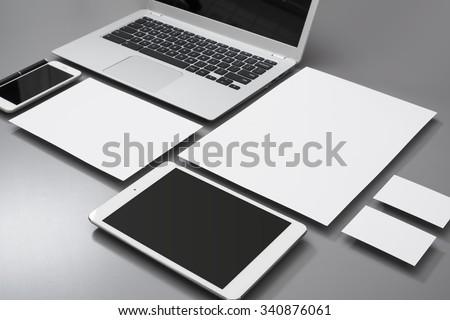 Clean identity design mockup - stock photo