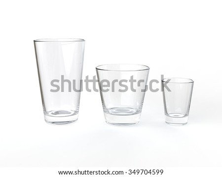 Clean juice glasses