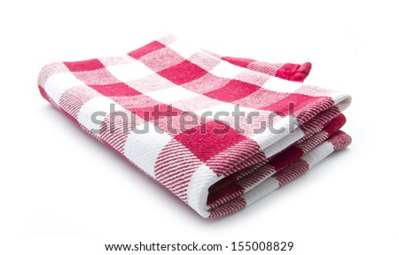clean kitchen cloth isolated on white background