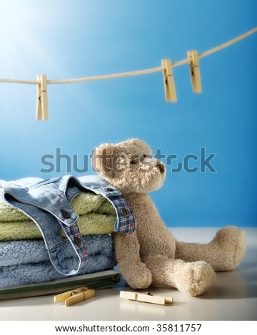 Clean laundry - stock photo