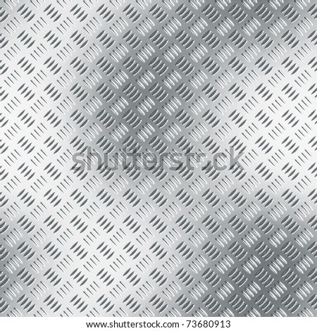 Clean metal diamond plate, seamlessly tillable as a background pattern. - stock photo