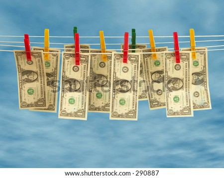 Clean money - stock photo