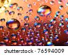 clean multicolored waterdrops - stock photo