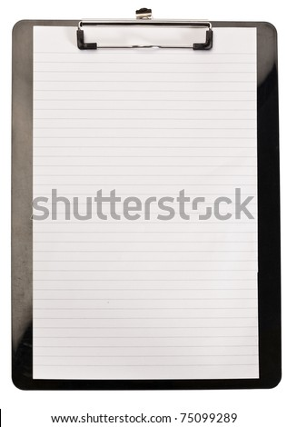 Clean note pad on a white background - stock photo