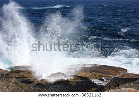 Clean ocean spray - stock photo