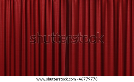clean red curtain