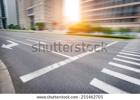 clean road of city , rapid city traffic - stock photo
