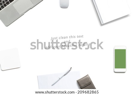 Clean tagline header image. Just replace the text and add your logo. - stock photo