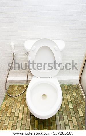 Clean Toilet - stock photo
