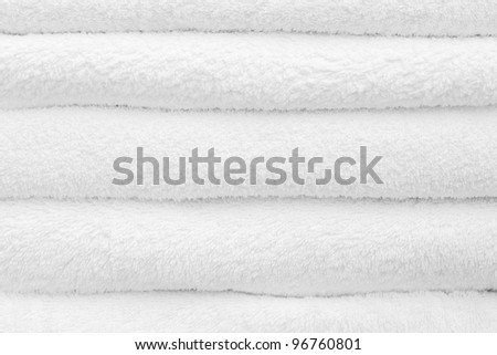 Clean towels - stock photo