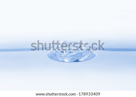 Clean water splash isolated on liquid background