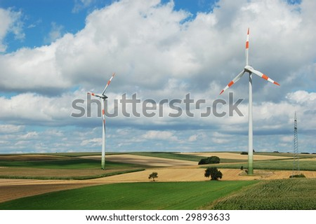 Clean wind energy in the Germany campaign - stock photo