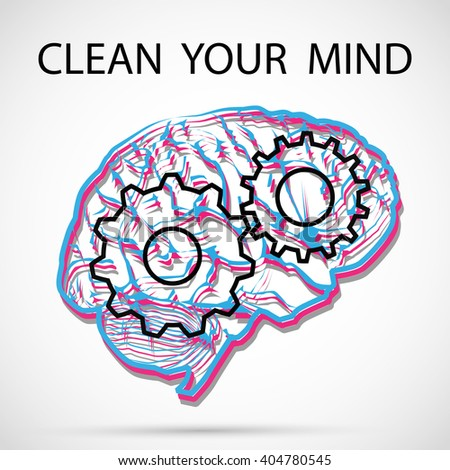 Clean your mind - stock photo