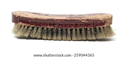 Cleaning brush old used.. - stock photo