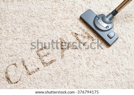 Cleaning carpet hoover - stock photo