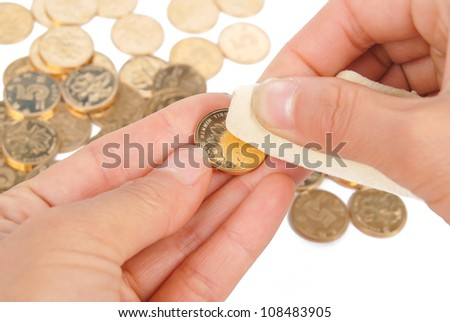 Cleaning coin