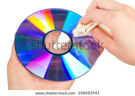 Cleaning DVD - stock photo