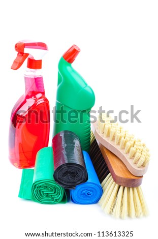 cleaning equipment - stock photo