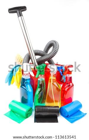cleaning equipment - stock photo