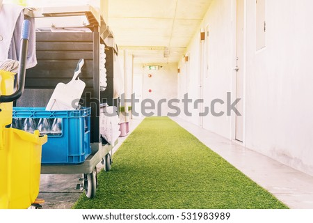 Janitor Cart Stock Images Royalty Free Images Amp Vectors
