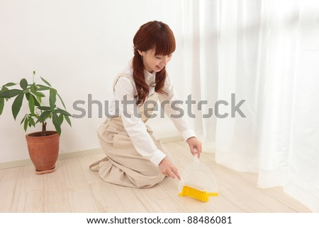 Cleaning floor - stock photo