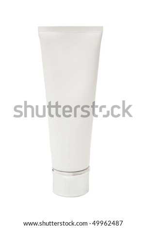 cleaning hair shampoo on white background