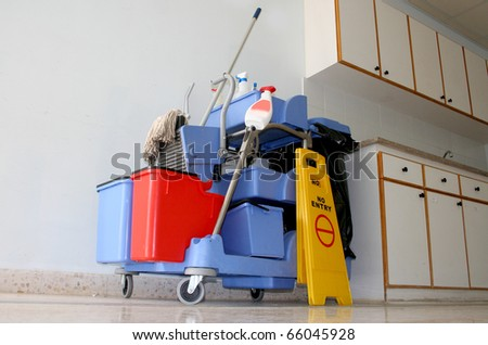 cleaning kit - stock photo