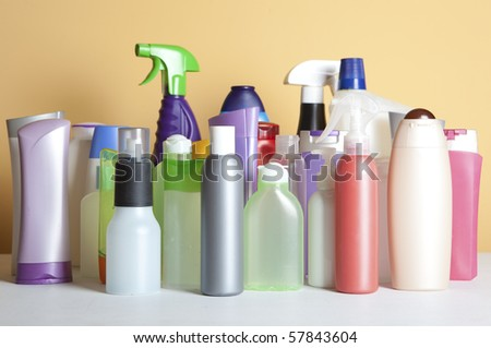 Cleaning Product Housework. Photography Spray Bottle - stock photo