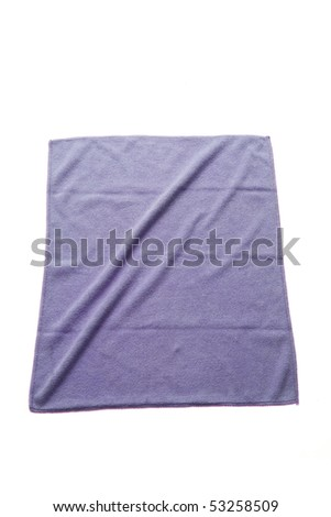 cleaning rag with white background - stock photo