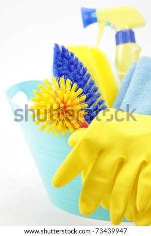 cleaning supply - stock photo
