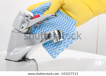 Cleaning Tap - stock photo