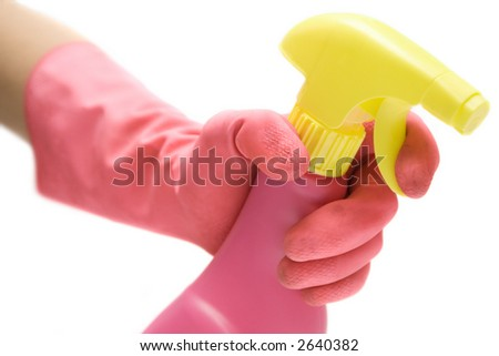Cleaning the Bathroom - stock photo