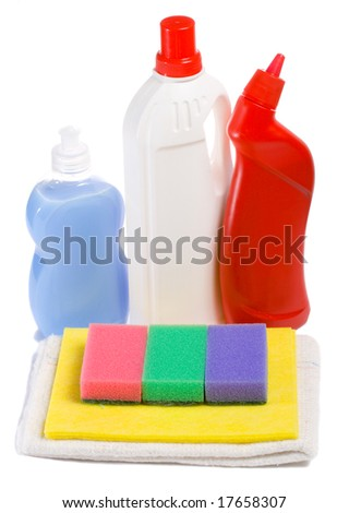 cleaning tool kit - stock photo