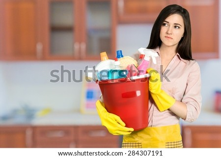 Cleaning, Women, Stereotypical Housewife.