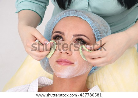Cleansing peeling at the beauty salon. - stock photo