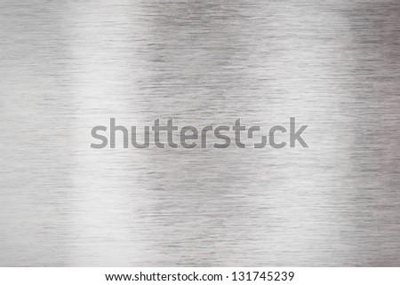 Clear aluminum metal plate - stock photo