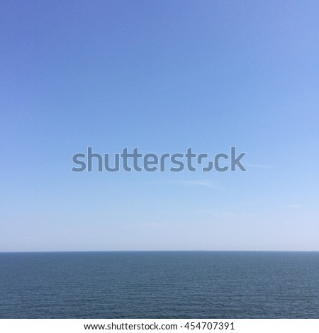 clear background of sea with clear sky