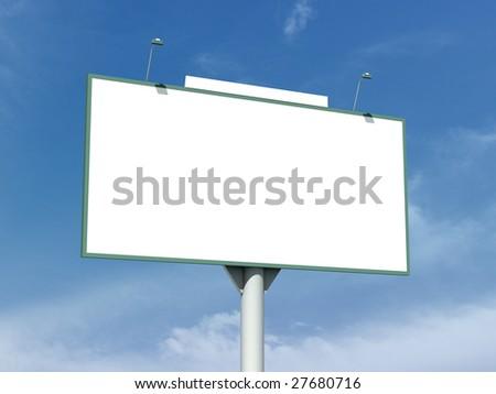 Clear bigboard - stock photo