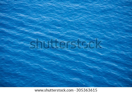 Clear blue sea - nature background - stock photo