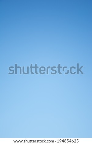 Clear blue sky background. - stock photo