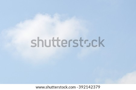 clear blue sky in pastel tone with copy space