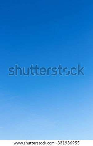 clear blue sky in the morning, natural scene background - stock photo