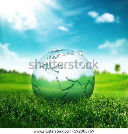 Clear Earth Concept. Abstract environmental backgrounds for your design - stock photo
