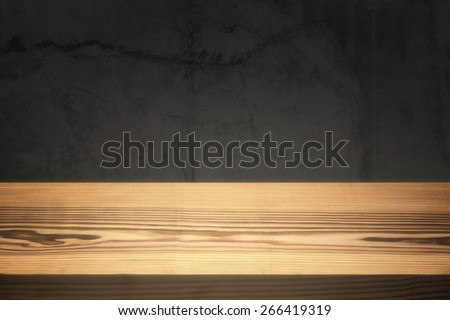 Clear empty desktop. - stock photo