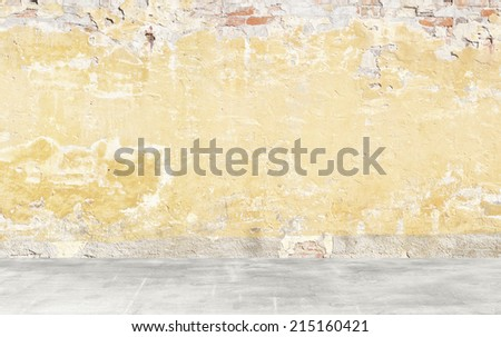 Clear empty high key photographer studio background. - stock photo