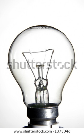 Clear lightbulb - stock photo