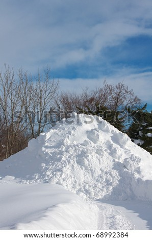 Clear of snow - stock photo
