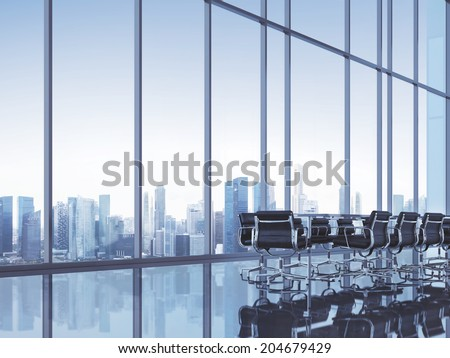 Clear open space office - stock photo