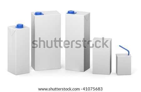 Clear package models - stock photo